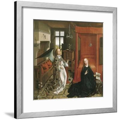 The Annunciation-Rogier van der Weyden-Framed Art Print