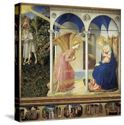 The Annunciation-Fra Angelico-Stretched Canvas Print
