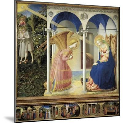 The Annunciation-Fra Angelico-Mounted Art Print