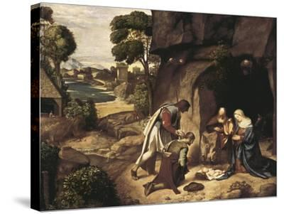 The Adoration of the Shepherds-Giorgione-Stretched Canvas Print