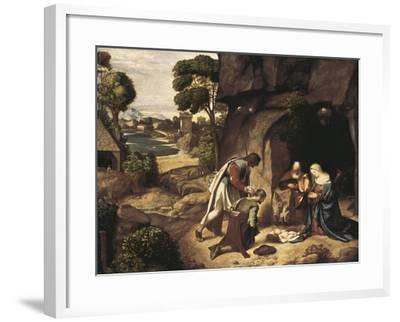 The Adoration of the Shepherds-Giorgione-Framed Art Print