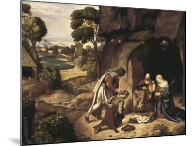 The Adoration of the Shepherds-Giorgione-Mounted Art Print