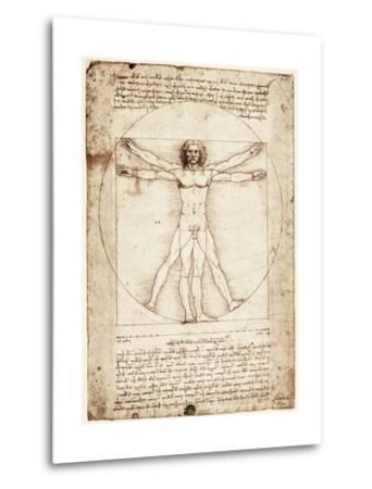 Vitruvian Man-Leonardo da Vinci-Metal Print