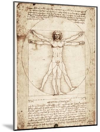 Vitruvian Man-Leonardo da Vinci-Mounted Art Print