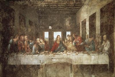 The Last Supper-Leonardo da Vinci-Stretched Canvas Print