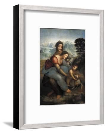 Virgin and Child with St-Leonardo da Vinci-Framed Premium Giclee Print