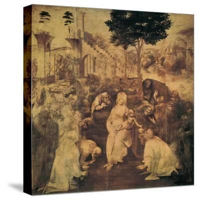 Adoration of the Magi-Leonardo da Vinci-Stretched Canvas Print