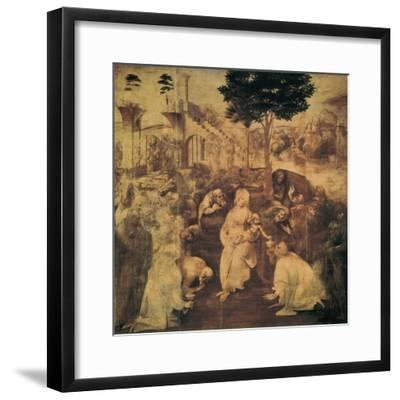 Adoration of the Magi-Leonardo da Vinci-Framed Premium Giclee Print