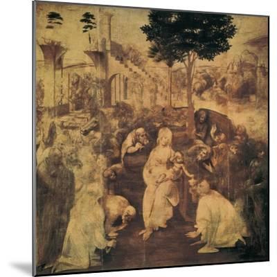 Adoration of the Magi-Leonardo da Vinci-Mounted Premium Giclee Print