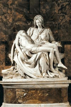 Pieta-Michelangelo-Stretched Canvas Print