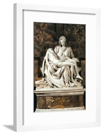 Pieta-Michelangelo-Framed Art Print