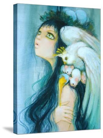 Royal Egg Watcher-Camilla D'Errico-Stretched Canvas Print