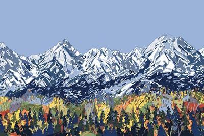 5 Peaks-HR-FM-Stretched Canvas Print