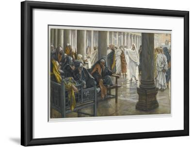 Woe Unto You, Scribes and Pharisees, Illustration from 'The Life of Our Lord Jesus Christ', 1886-94-James Tissot-Framed Giclee Print