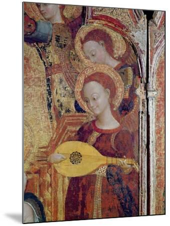 Detail of Angel Musicians from a Painting of the Virgin and Child Surrounded by Six Angels, 1437-44-Sassetta-Mounted Giclee Print