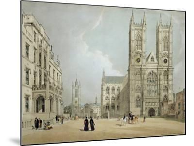 Westminster Abbey and Hospital, from 'London as it Is', Engraved and Published by the Artist, 1842-Thomas Shotter Boys-Mounted Giclee Print