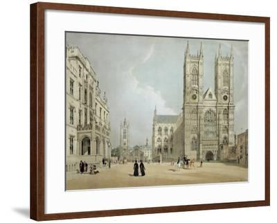 Westminster Abbey and Hospital, from 'London as it Is', Engraved and Published by the Artist, 1842-Thomas Shotter Boys-Framed Giclee Print
