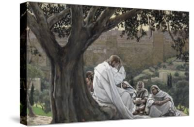 Christ Foretelling the Destruction of the Temple, Illustration for 'The Life of Christ', C.1886-94-James Tissot-Stretched Canvas Print