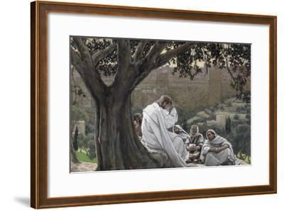 Christ Foretelling the Destruction of the Temple, Illustration for 'The Life of Christ', C.1886-94-James Tissot-Framed Giclee Print