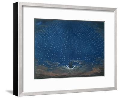 The Palace of the Queen of the Night, Set Design for 'The Magic Flute' by Wolfgang Amadeus Mozart-Schinkel-Framed Giclee Print