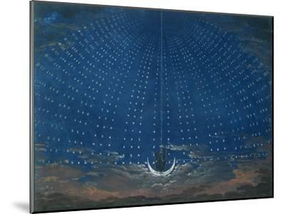 The Palace of the Queen of the Night, Set Design for 'The Magic Flute' by Wolfgang Amadeus Mozart-Schinkel-Mounted Giclee Print