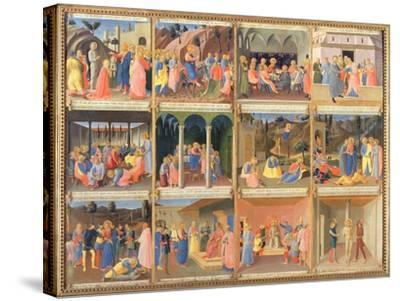 Scenes from the Life of Christ, Panel Three from the Silver Treasury of Santissima Annunziata-Fra Angelico-Stretched Canvas Print
