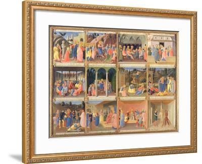 Scenes from the Life of Christ, Panel Three from the Silver Treasury of Santissima Annunziata-Fra Angelico-Framed Giclee Print
