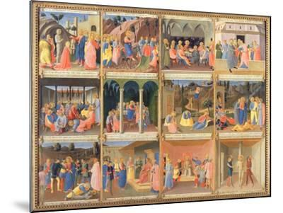 Scenes from the Life of Christ, Panel Three from the Silver Treasury of Santissima Annunziata-Fra Angelico-Mounted Giclee Print