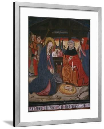 Nativity, Panel from the Church San Andres of Tortura, Late 15th Century-Early 16th Century-Spanish School-Framed Giclee Print