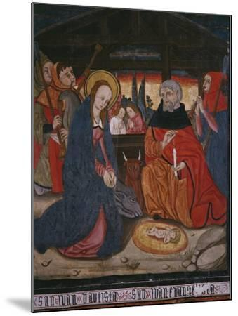 Nativity, Panel from the Church San Andres of Tortura, Late 15th Century-Early 16th Century-Spanish School-Mounted Giclee Print