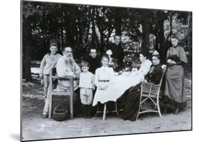 Family Portrait of the Author Leo N. Tolstoy, from the Studio of Scherer, Nabholz and Co.-Russian Photographer-Mounted Giclee Print