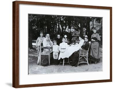 Family Portrait of the Author Leo N. Tolstoy, from the Studio of Scherer, Nabholz and Co.-Russian Photographer-Framed Giclee Print