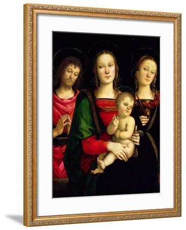 The Madonna and Child with St. John the Baptist and St. Catherine of Alexandria-Perugino-Framed Giclee Print