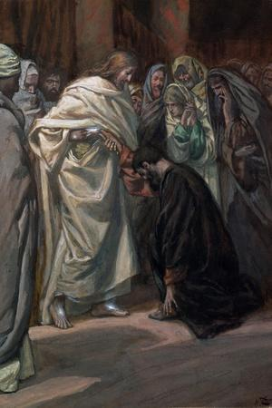 The Unbelief of St. Thomas, Illustration for 'The Life of Christ', C.1884-96-James Tissot-Stretched Canvas Print