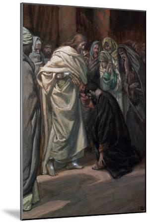 The Unbelief of St. Thomas, Illustration for 'The Life of Christ', C.1884-96-James Tissot-Mounted Giclee Print