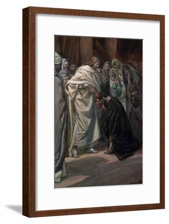 The Unbelief of St. Thomas, Illustration for 'The Life of Christ', C.1884-96-James Tissot-Framed Giclee Print