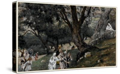 Jesus Went Out into a Desert Place, Illustration for 'The Life of Christ', C.1884-96-James Tissot-Stretched Canvas Print