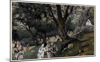 Jesus Went Out into a Desert Place, Illustration for 'The Life of Christ', C.1884-96-James Tissot-Mounted Giclee Print