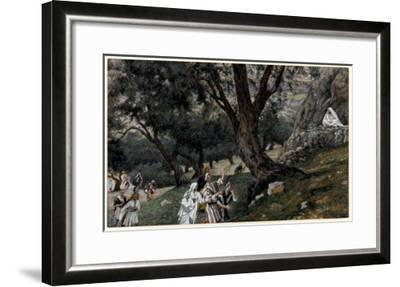 Jesus Went Out into a Desert Place, Illustration for 'The Life of Christ', C.1884-96-James Tissot-Framed Giclee Print