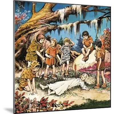 The Lost Boys' Concern for Injured Wendy, Illustration from 'Peter Pan' by J.M. Barrie-Nadir Quinto-Mounted Giclee Print