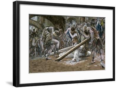 Christ Falls Beneath the Cross, Illustration for 'The Life of Christ', C.1884-96-James Tissot-Framed Giclee Print