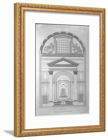 Chapel of the Pieta in St.Peter's, Rome, Engraved by Jean Joseph Sulpis, Published 1882-Paul Marie Letarouilly-Framed Giclee Print
