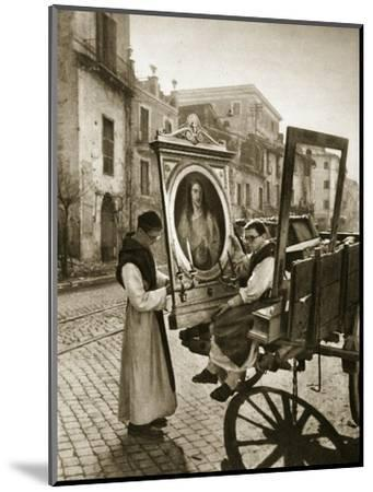 Italian Monks Remove Treasures from their Convent's Chapel for Safekeeping, 1943-4--Mounted Premium Giclee Print
