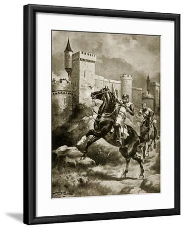 The Siege of Chaluz, Illustration from 'Hutchinson's Story of the British Nation', C.1920-Henry Payne-Framed Giclee Print