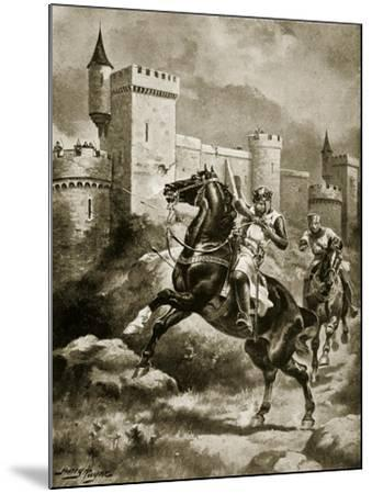 The Siege of Chaluz, Illustration from 'Hutchinson's Story of the British Nation', C.1920-Henry Payne-Mounted Giclee Print
