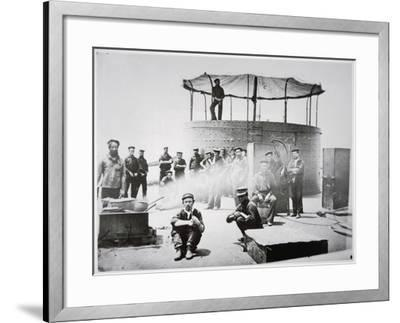 Crew of the Uss 'Monitor' Cooking on Deck on the James River, Virginia, 9th July 1862-American Photographer-Framed Giclee Print