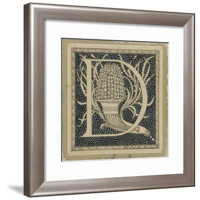 Capital Letter D, Illustration from 'The Life of Our Lord Jesus Christ'-James Tissot-Framed Giclee Print