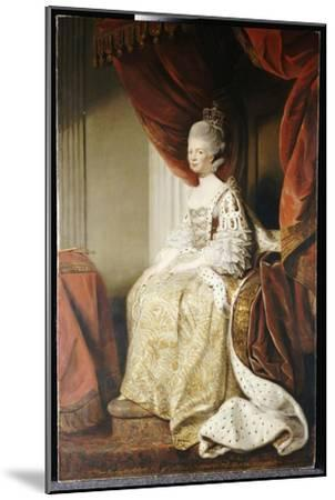 Portrait of Queen Charlotte, Full Length, Seated in Robes of State-Sir Joshua Reynolds-Mounted Giclee Print