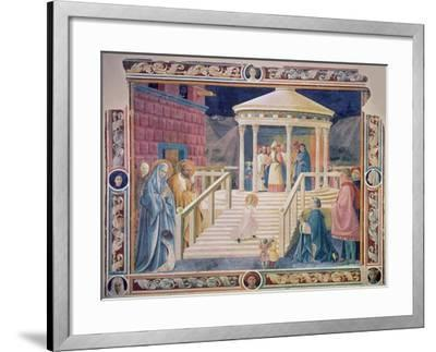 The Presentation of the Blessed Virgin Mary in the Temple, 1433-34-Paolo Uccello-Framed Giclee Print