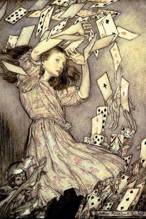 Illustration from 'Alice's Adventures in Wonderland' by Lewis Carroll-Arthur Rackham-Stretched Canvas Print